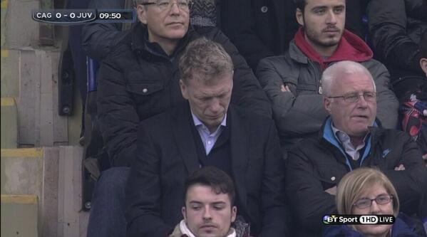 Man United manager Moyes explains to Tuttosport why he was at Cagliari v Juventus on Sunday