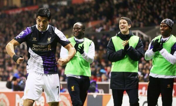 Luis Suarez Hulk celebration at Stoke turned into comedy Memes