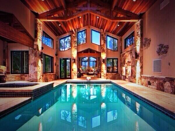Kayla Danielle On Twitter Firstclasslivin Indoor Pool Log Cabin