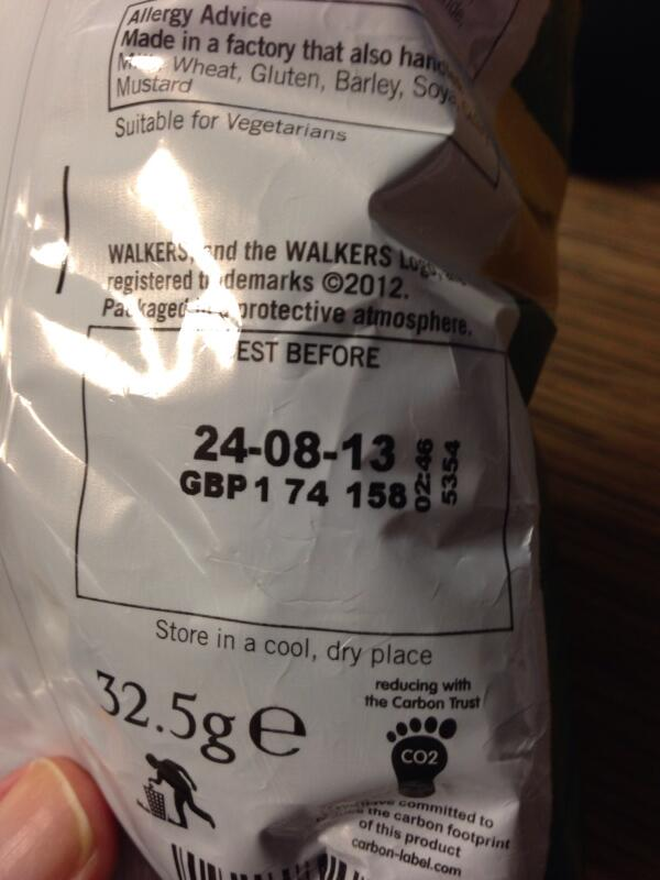 @Tesco Not happy! Just noticed exp. date on crisps from Tesco online shop delivered on 11th Jan 2014! Ref. 438040439 http://t.co/i1ojgDh6CY