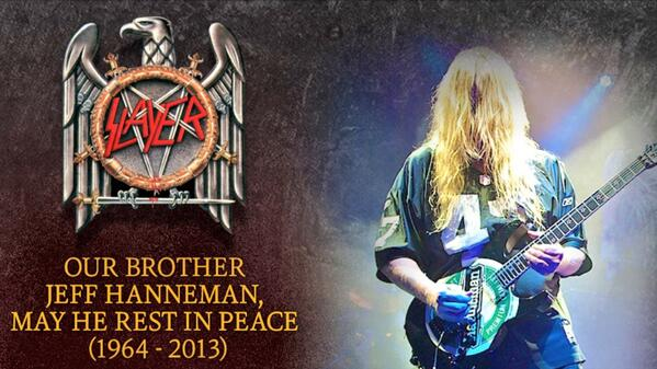 .@TheGRAMMYs you sadly failed to include #Grammy winner #JeffHanneman, in tonight's remembrance segment. #Slayer http://t.co/2yc6Xl8vcG
