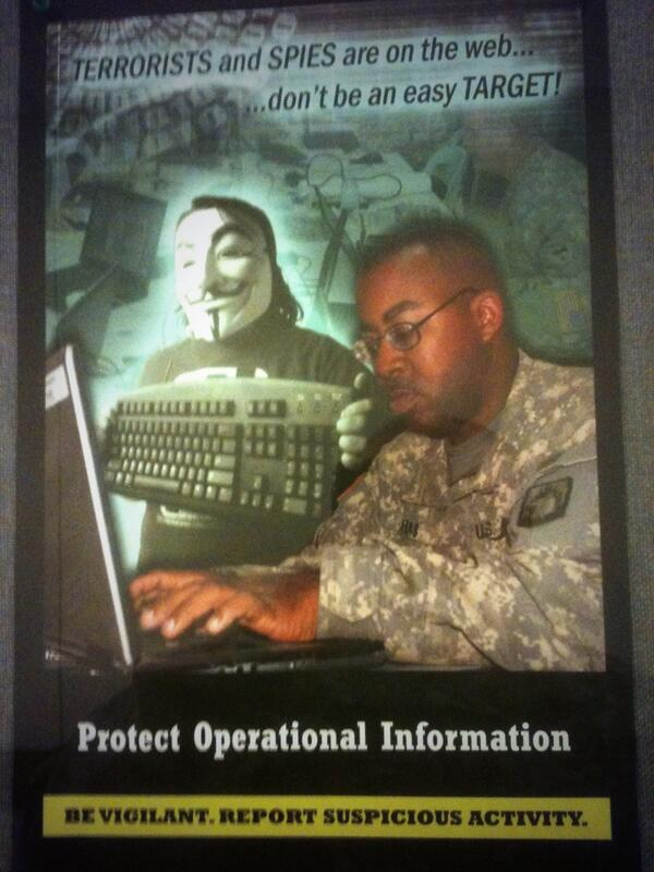 Bizarre new mess hall posters from US army, that'll keep @wikileaks out http://t.co/jurxl9GIta
