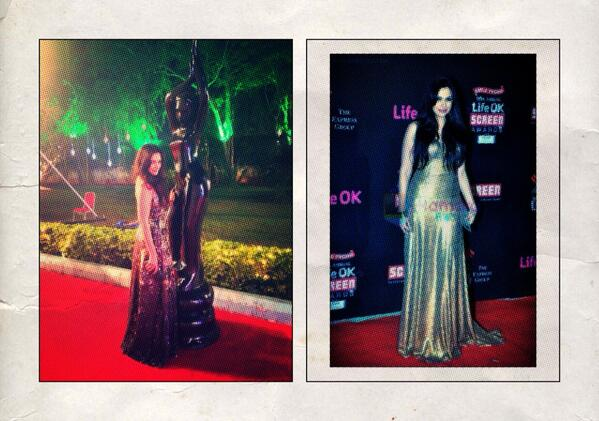 Thank you @ADSINGHDESIGNS for dressing me In your beautiful gowns for the Screen Awards and Filmfare