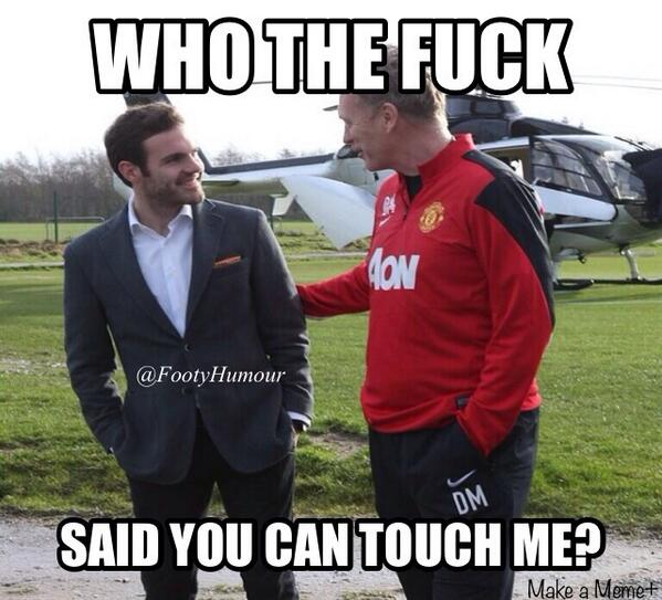 Juan Matas first meeting with David Moyes gets the photoshop treatment!