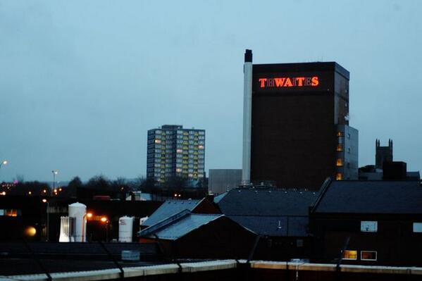 Someone obviously isn't pleased about the announced job losses at Thwaites Brewery in Blackburn, Lancashire: http://t.co/egt41In2iz