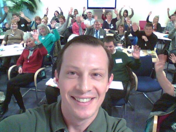 A #selfie during my presentation at #digitalangus, with delegates photobombing me! :D http://t.co/mrOsISJZxd
