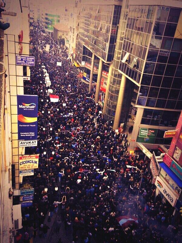 1. Global Football Protests In The Last 24 Hours: Turkey  MT @EminHMO: Trabzonspor fans are Protesting match-fixing.. http://t.co/lZBPD9lIlr