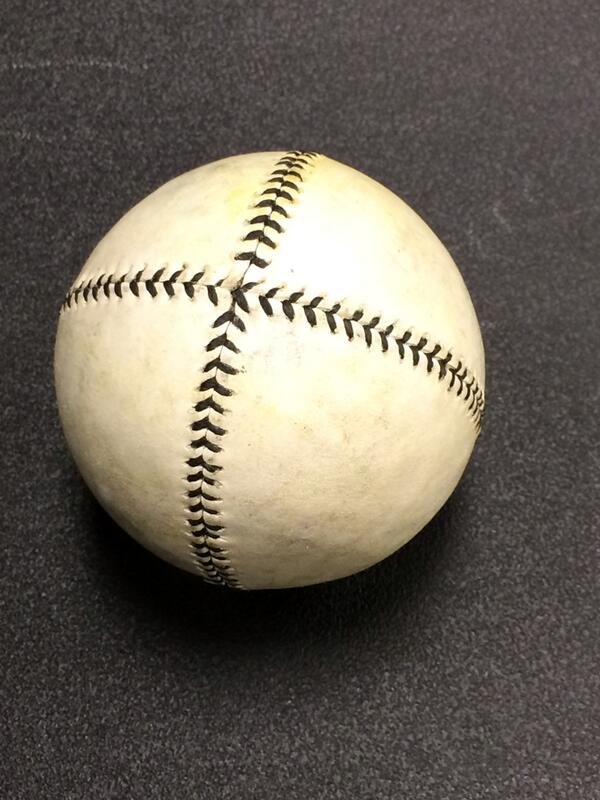 One of the vintage baseballs used by @taovbb #SABRDay @sabr http://t.co/YIrMObPw0E