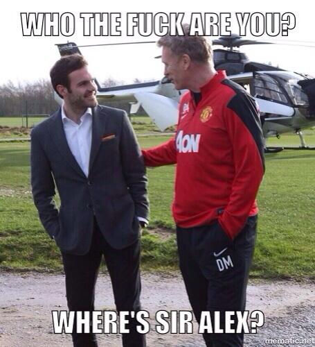 Be1zcejIcAA4RTE Juan Matas first meeting with David Moyes gets the photoshop treatment!