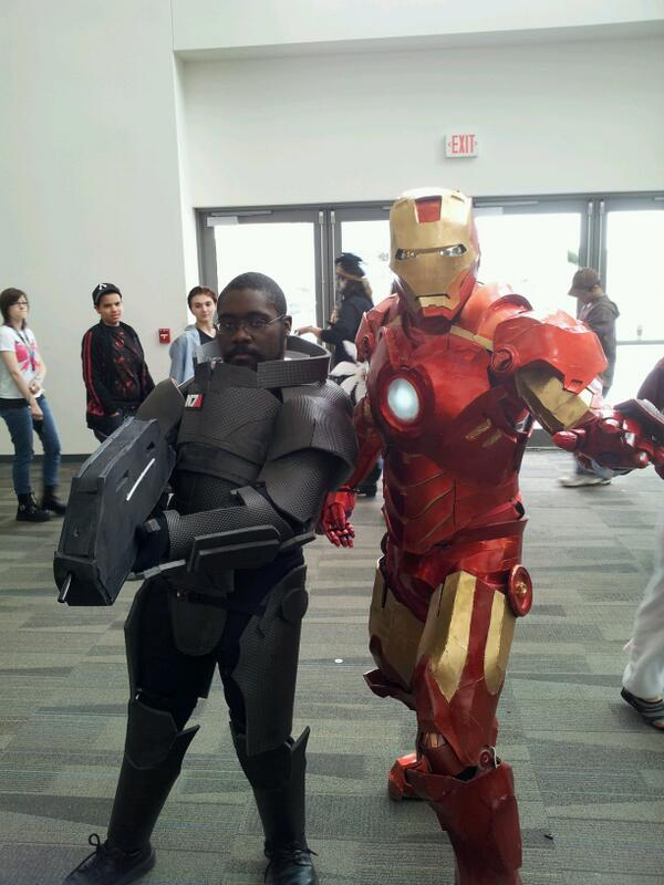 Never thought Tony Stark would be backing me up. #Ohayocon http://t.co/bv8vcr30Sp