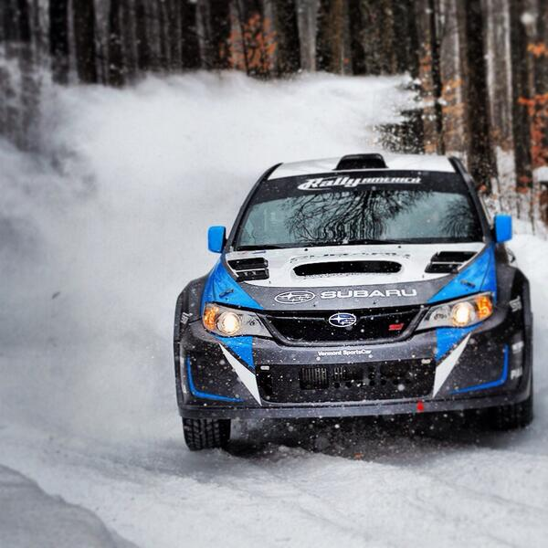 The only one who could catch @Davidhiggins75 @SnoDriftRally was our photographer!  #subaru #sti #LarsGange http://t.co/76UmDgzncL