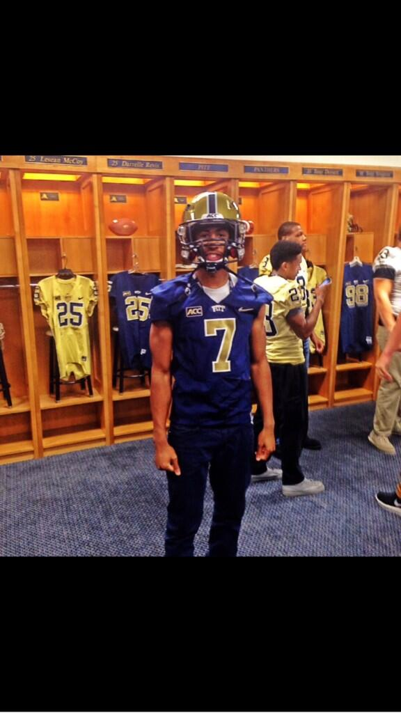 "Hmmm — Looks like Pitt will have gold jerseys next year and are those  MUSTARD (""Pitt Script"") helmets    (h t Jake Smith) Ran that photo by Kek  and he ... 1bfc79f30"