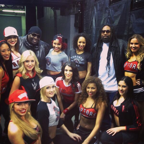 Fan night was a blast! Dancing with Tag Team during halftime was definitely an experience for the books! #rtz http://t.co/YnWQknY4De