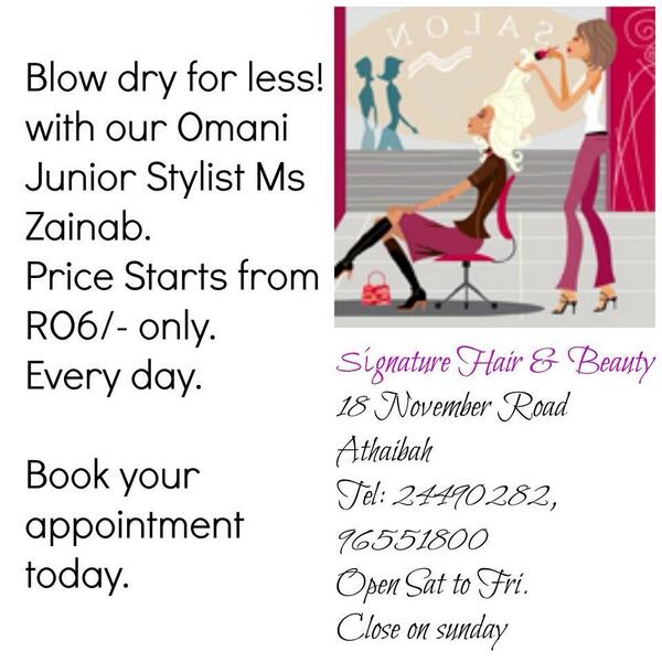 Signature Salon Oman (@SignatureOman) | Twitter