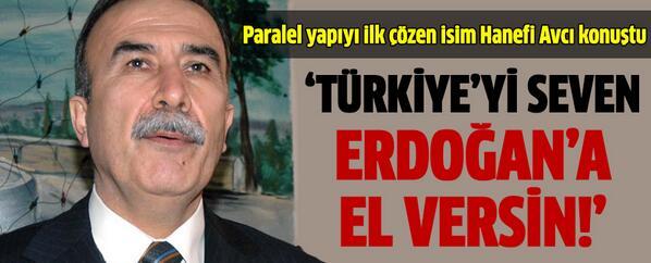 Hanefi Avcı: Türkiye'yi seven Erdoğan'a el versin http://t.co/RKHxmD0hSc http://t.co/pjAytwbXet