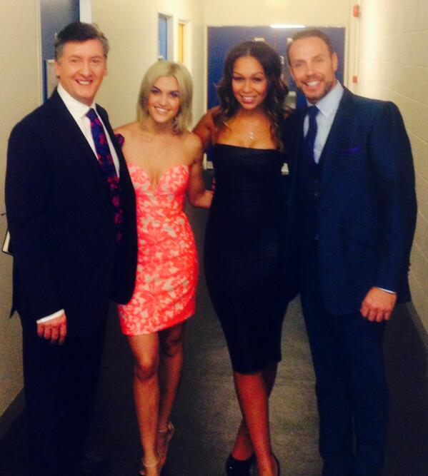 With the exquisite @RebeccaFMusic on @DOI2014UK with @TheRobinCousins @ImAshleyRoberts http://t.co/VHH51jJEiI