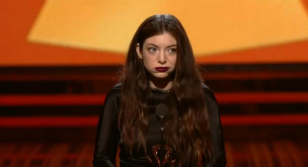 Great pic. RT @washingtonpost And Lorde wins for best pop solo performance... http://t.co/8DmUnWeVFi  #Grammys http://t.co/Mb76KaZ1FC