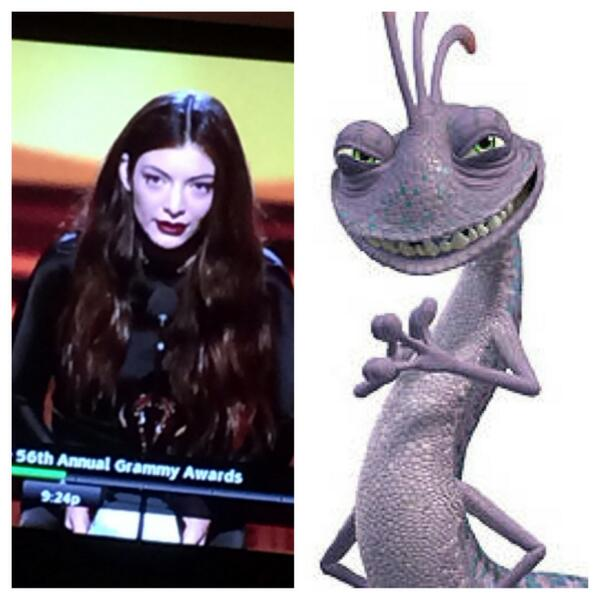 B On Twitter Lorde Looks Like Randall From Monsters Inc Http T Co 0rzayt8mon