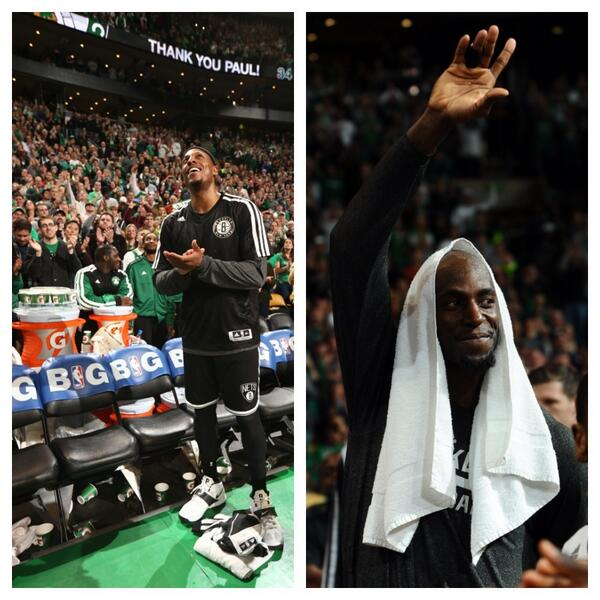 Amazing show of class and respect by the @celtics organization and fans tonight in Boston! http://t.co/Kt1mMdX662