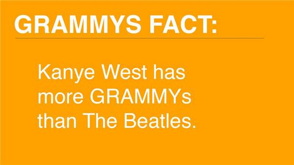 For all you Beatles fans, this #GRAMMYs fact may not sit well with you. http://t.co/x3jad7S9zU http://t.co/uNm11ge9Un