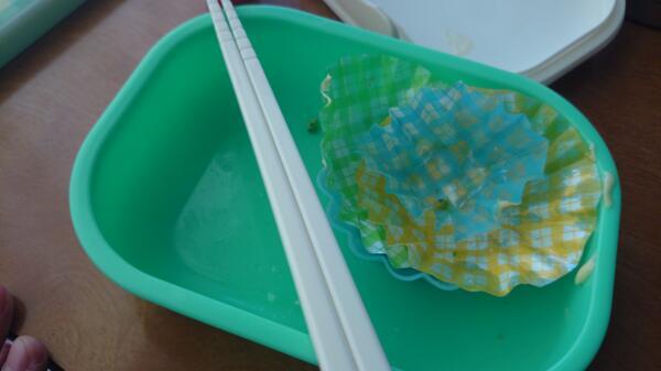 最後の弁当を完食。 幼稚園、小中学校、高校の14年間ありがとう、ごちそうさまでした! http://t.co/63F7Gqr61E