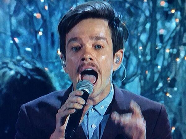 Is that Nate Ruess' mustache or has his eyebrows come down for a drink? http://t.co/6YtV60k3Qn