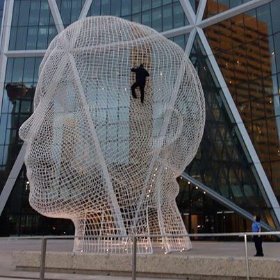 Jackass prankster @Steveo turns heads after apparently climbing downtown sculpture #yyc http://t.co/3z2uSl8t9A http://t.co/YlNOS1SLs2