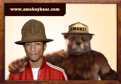 Thanks @Pharrell for a memorable #GRAMMYs night. Only you can prevent wildfires. http://t.co/o0OQ2rH4FQ @smokey_hat http://t.co/HWTqbnuEU6