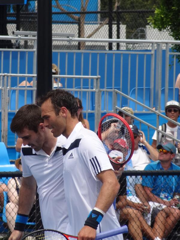 high point of today was seeing @colin_fleming and @RoscoHutchins back in winning action on court #ausopen http://t.co/dqvEIsAAQa