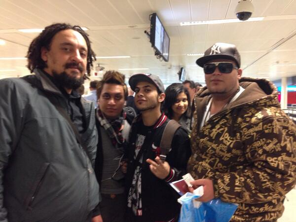 Egyptian artist arrived at Heathrow airport & ready to launch #cairocalling http://t.co/6lYxkQaDBh