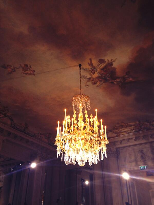 At rehearsal for @MaisonValentino at the gorgeous Hotel de Salamon de Rothschild. #menswear #Paris2014 #venue http://t.co/yoD5ech3G0