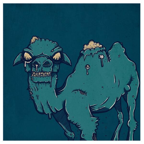 ZOMBIE CAMEL!   #HappyHumpDay http://t.co/5766o5U4zY