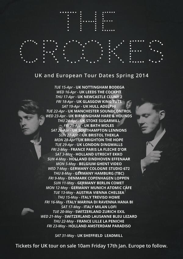 UK and European Tour dates for Spring 2013. Tickets on sale 10am Friday for UK, European Tickets to follow. http://t.co/5LwieFfoJ3
