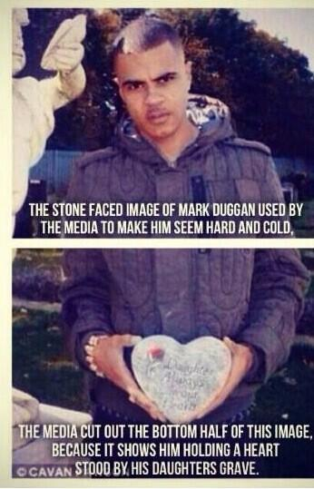 This is the most circulated picture of Mark Duggan, only problem being the media cut out the most important part. http://t.co/51TYuOoBoL