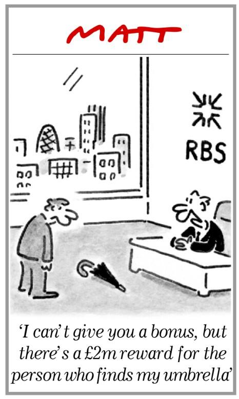 Genius Matt cartoon on bankers bonuses. As ever. @DJack_Journo:http://t.co/pGk0vS31DX