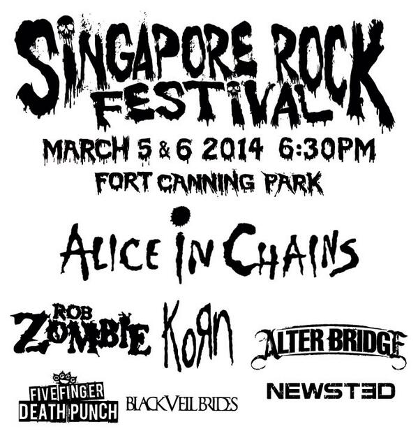 Singapore Rock Festival is on March 5 & 6 at Fort Canning Park