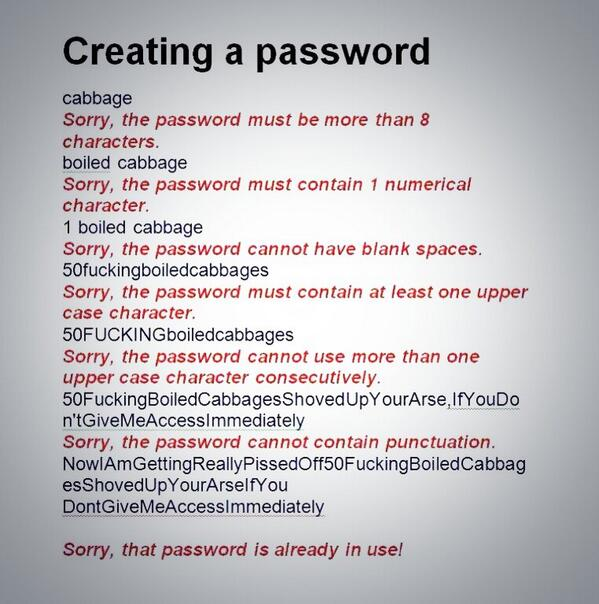 Finally...some clear instructions for creating a secure password!:) http://t.co/LKtODArFic