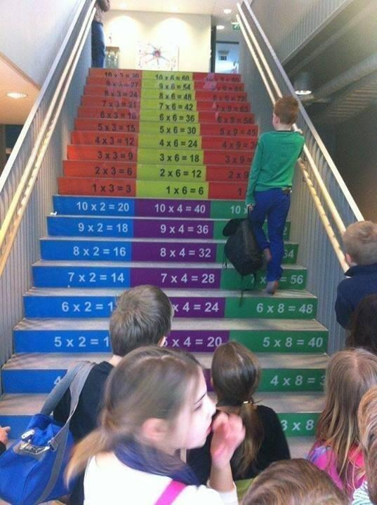 "Great idea! ""@wterral: A great use of space for any school. #mathchat #edchat http://t.co/DmQBTQRnnk"""