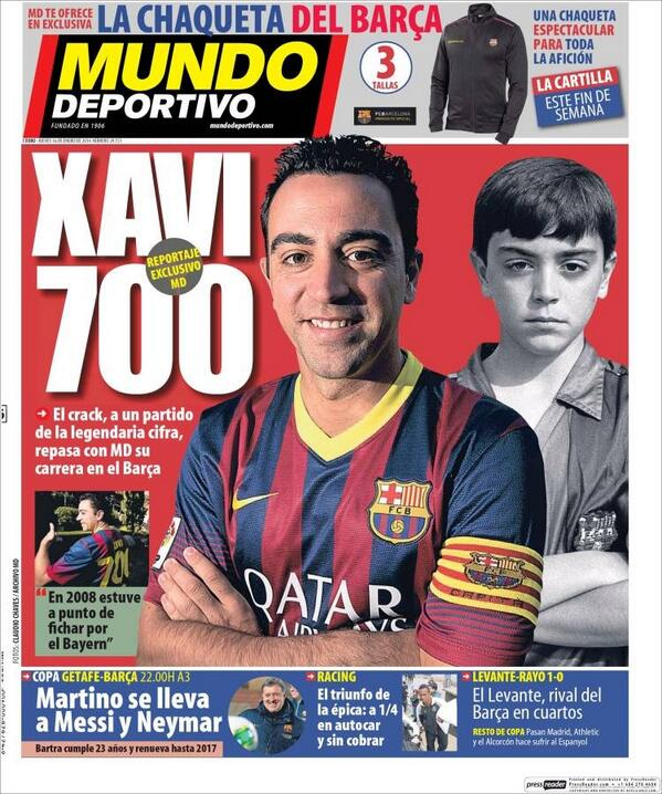 Xavi set to play his 700th game for Barcelona [Infographic]