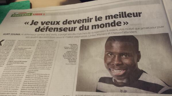 St Etienne defender Kurt Zouma confirms he has spoken to Mourinho & loves Chelsea [LEquipe]