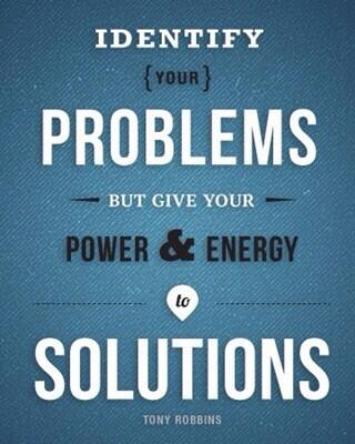 #Leaders spend 5% of their time on the problem & 95% of their time on the solution. Get over it & crush it! http://t.co/Bf6qwA7WbB #fb