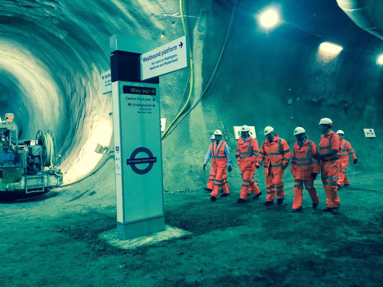 Earlier I visited the @Crossrail site at Tott Crt Rd w/ @David_Cameron which is now half way through construction 1/2 http://t.co/kmEkW4BhRC