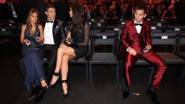 Ronaldo vs Messi at Ballon d'or — http://t.co/g9XDJElOGx