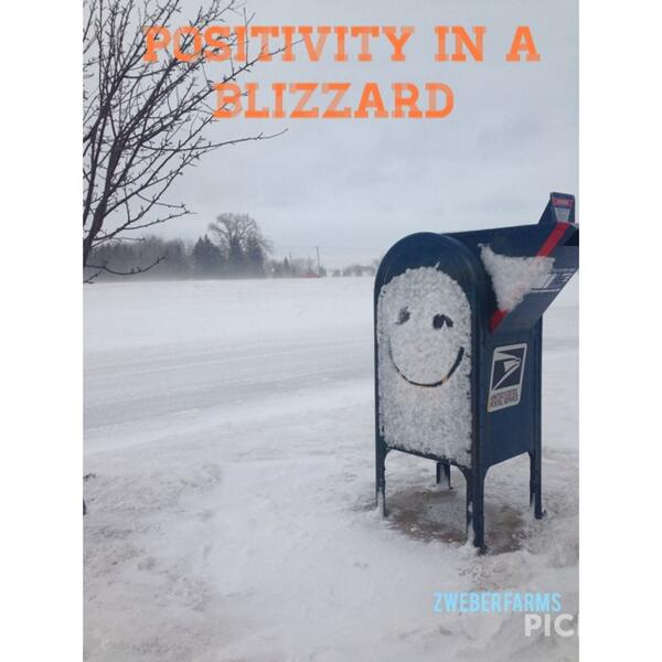 Someone was being positive at our local USPS today. It made me smile (and take a pic ) #mnwx http://t.co/LotzbaiYDN