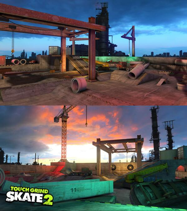 The Docks - First preview! You might recognize the surroundings from BMX :) Will be packed with fun stuff to skate! http://t.co/nNDUKUbq6m