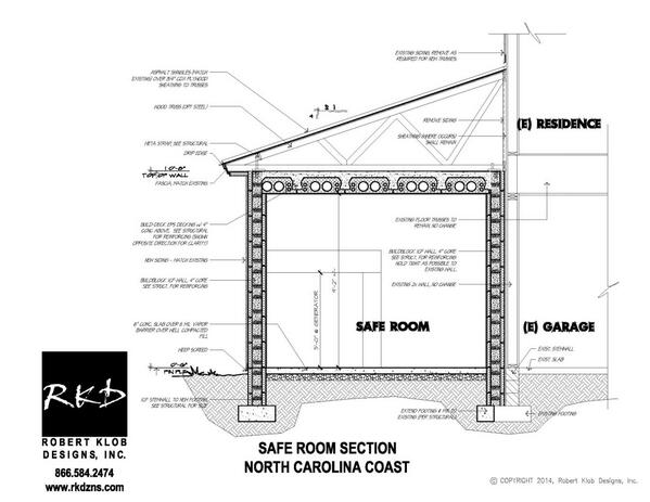 Robert Klob Designs on Twitter ICF Safe room section in North – Concrete Icf Garage Plans