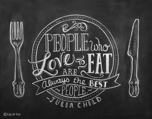 Truth be told so artfully! Great work @LilyandVal, for immortalizing this timeless Julia Child quote. http://t.co/zG6jUEXxcl