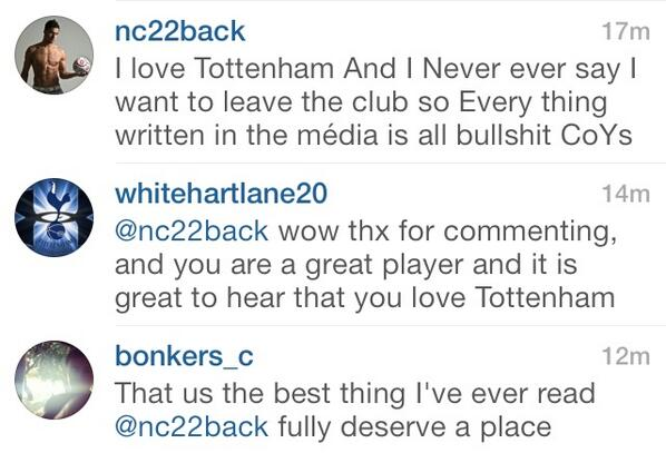 Nacer Chadli on Instagram: I love Tottenham... Everything written in the media is bulls***