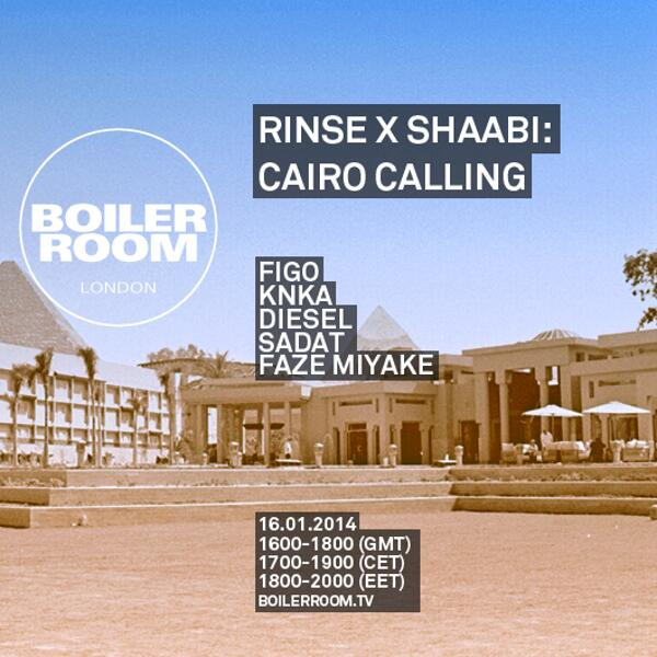 #RinseFM enters the @BoilerRoom to present #CairoCalling Tune in LIVE right now >> http://t.co/LoiyzHIayC http://t.co/HfPQeWjY5e