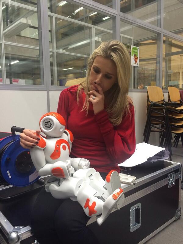 Weirdest moment of day filming with robots? One the exact same size as my daughter. http://t.co/AKR6jJL9CT